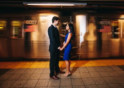 couple in front of subway_fenglong photography