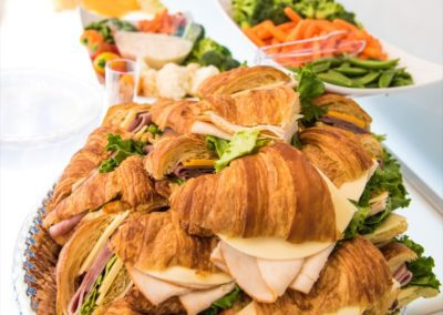 croissant sandwiches and appetizers