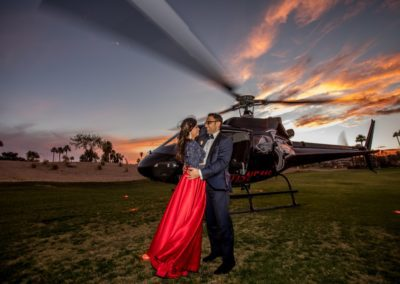 getaway_wedding_escape_helicopter sunset