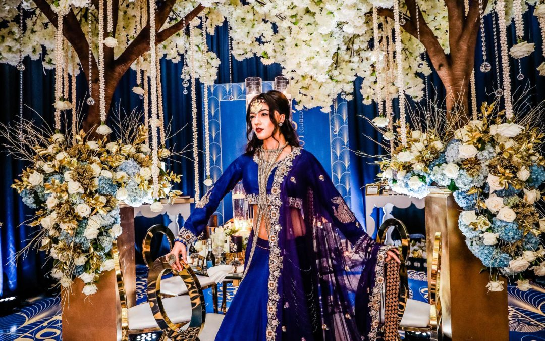Indian Bride in Blue Dress