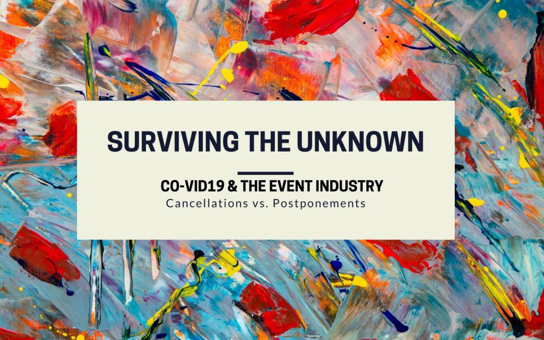CoVID19 Events Cancellation vs. Postponment