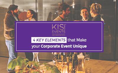4 Key Elements that Make your Corporate Event Unique
